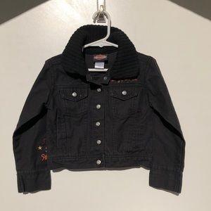 Harley Davison kids black denim jacket